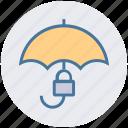 insurance, lock, protection, rain, security, success, umbrella