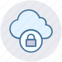 cloud, cloud lock, cloud security, lock, protection, security, sky
