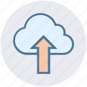 arrow, cloud, cloud computing, cloud network, storage, up, upload