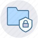 document, folder, lock, safe folder, security, shield icon