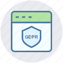 gdpr, internet, protection, safety, security, shield, webpage