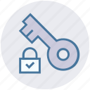 accept, key, lock, locked, padlock, protection, secure icon