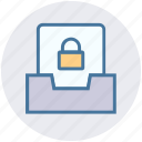 files, folder, gdpr, lock, privacy, security icon