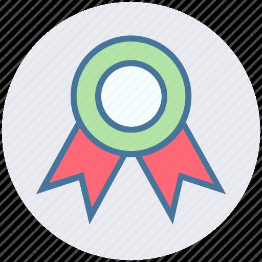 Award, award badge, award ribbon, badge, prize, ribbon, winner badge icon - Download on Iconfinder