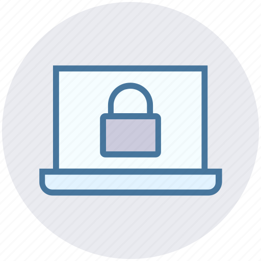 laptop, lock, notebook, protection, safe, security icon