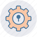 cogwheel, gear, lock, protection, security, setting, setup