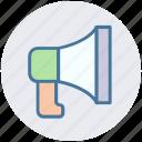 announcement, loudspeaker, megaphone, promote, viral, voice