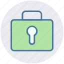 bag, business, lock, password, portfolio, safe bag