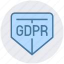 gdpr, general data protection regulation, protect, secure, security, shield icon
