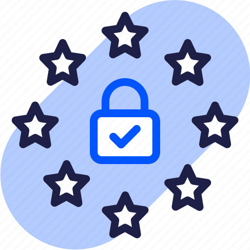 eu, gdpr, general data protection regulation, law, lock, privacy, rules icon
