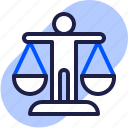 balance, eu, gdpr, general data protection regulation, justice, law, legal icon