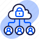 cloud, connection, eu, gdpr, general data protection regulation, internet, lock icon