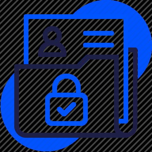 eu, file, folder, gdpr, general data protection regulation, lock, personal data icon