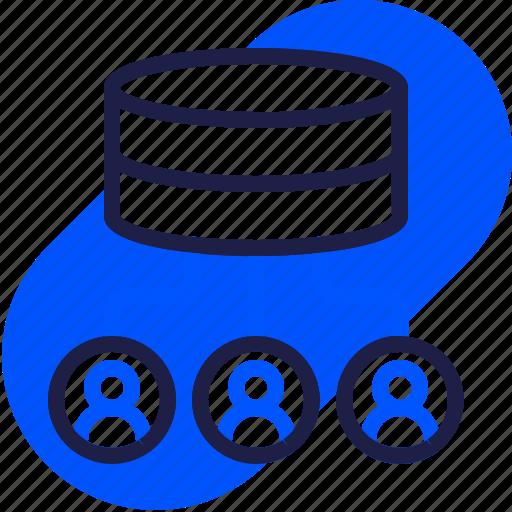 eu, gdpr, general data protection regulation, network, sharing data, storage, transfer icon