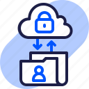cloud, eu, folder, gdpr, general data protection regulation, security, transfer data icon