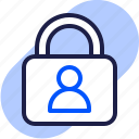 eu, gdpr, general data protection regulation, lock, privacy, profile, user icon