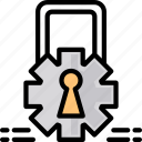 encryption, lock, security icon icon
