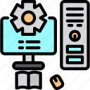 computer, keyboard, mouse icon icon