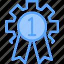 award, ribbon, star icon icon