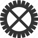 gear, pinion, setting, tool, wheel icon