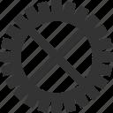 gear, pinion, setting, tool, wheel icon