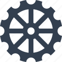 clock, element, gear icon
