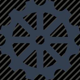 clock, element, gear icon
