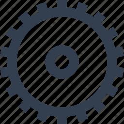 cogwheel, gear, industry, mechanism icon