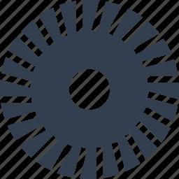 circular, gear, mechanism, motion icon