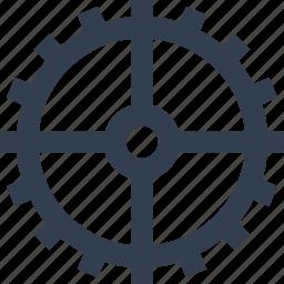 clock, element, gear, industry, watch icon