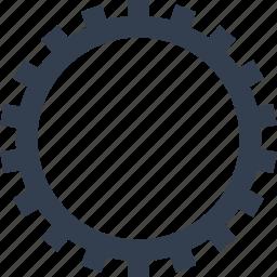 cogwheel, gear, mechanism, transmission icon