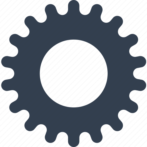 cogwheel, gear, industry, mechanics, technology icon