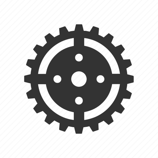 cogwheel, gear, machine, preferences, steel, transmission, wheel icon