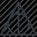 deathly, hallows, harry, magic, movie, potter, rune icon