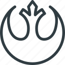 aliance, logo, rebel, sigil, star, wars icon