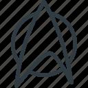 geek, logo, movie, star, trek icon