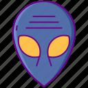 alien, extraterrestrial, face, head
