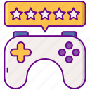 gaming, game, controller, reviews icon