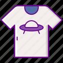 clothes, geek, shirt, ufo icon