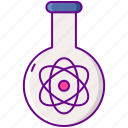 atom, flask, laboratory, science