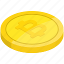 bit coin, bitcoin, coin, income, money, revenue icon