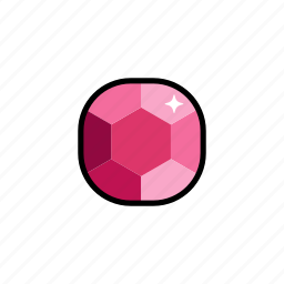 gem, gems, gemstone, jewelry, pink sapphire, ruby icon