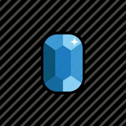 diamond, gem, gems, gemstone, jewelry, sapphire, stone icon