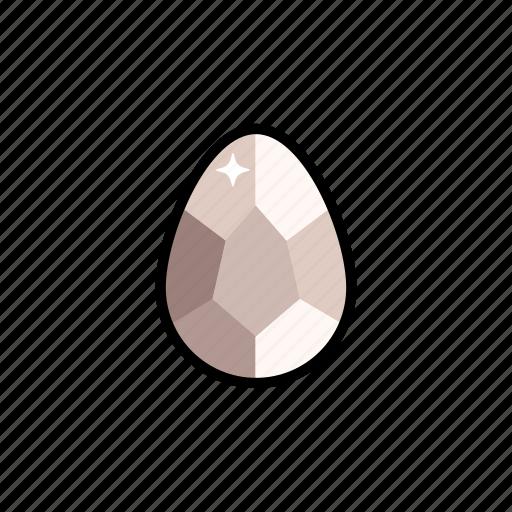 gems, gemstone, jewelry, morganite, pearl, stone icon