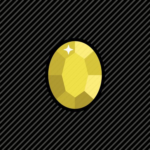 chrysoberyl, gems, jewelry, stone icon