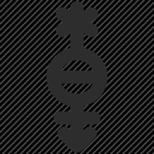 arrow, gender, genderqueer, pangender icon