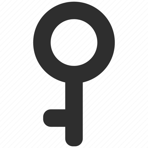 demigirl, gender, key, lock, sign icon