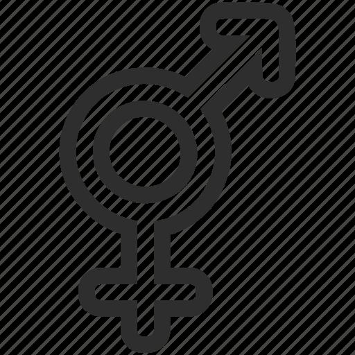 bigender, gender, genderless icon