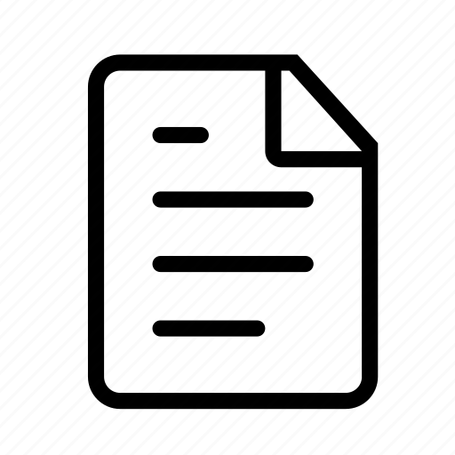 page, paper, text, type icon