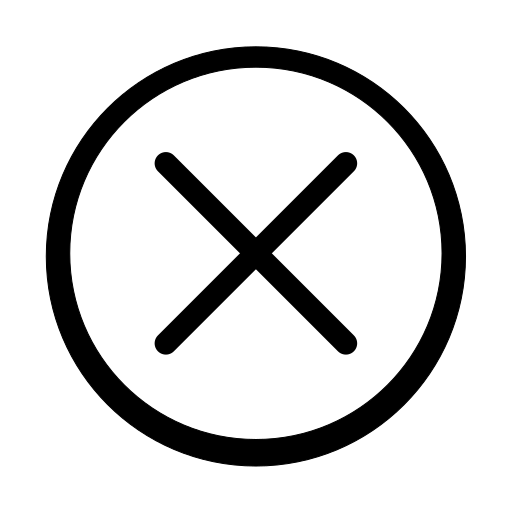 cancel, close, cross, delete, exit, remove, trash icon